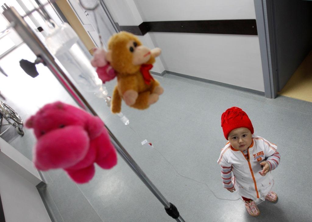 3-х летняя девочка, страдающая лейкемией